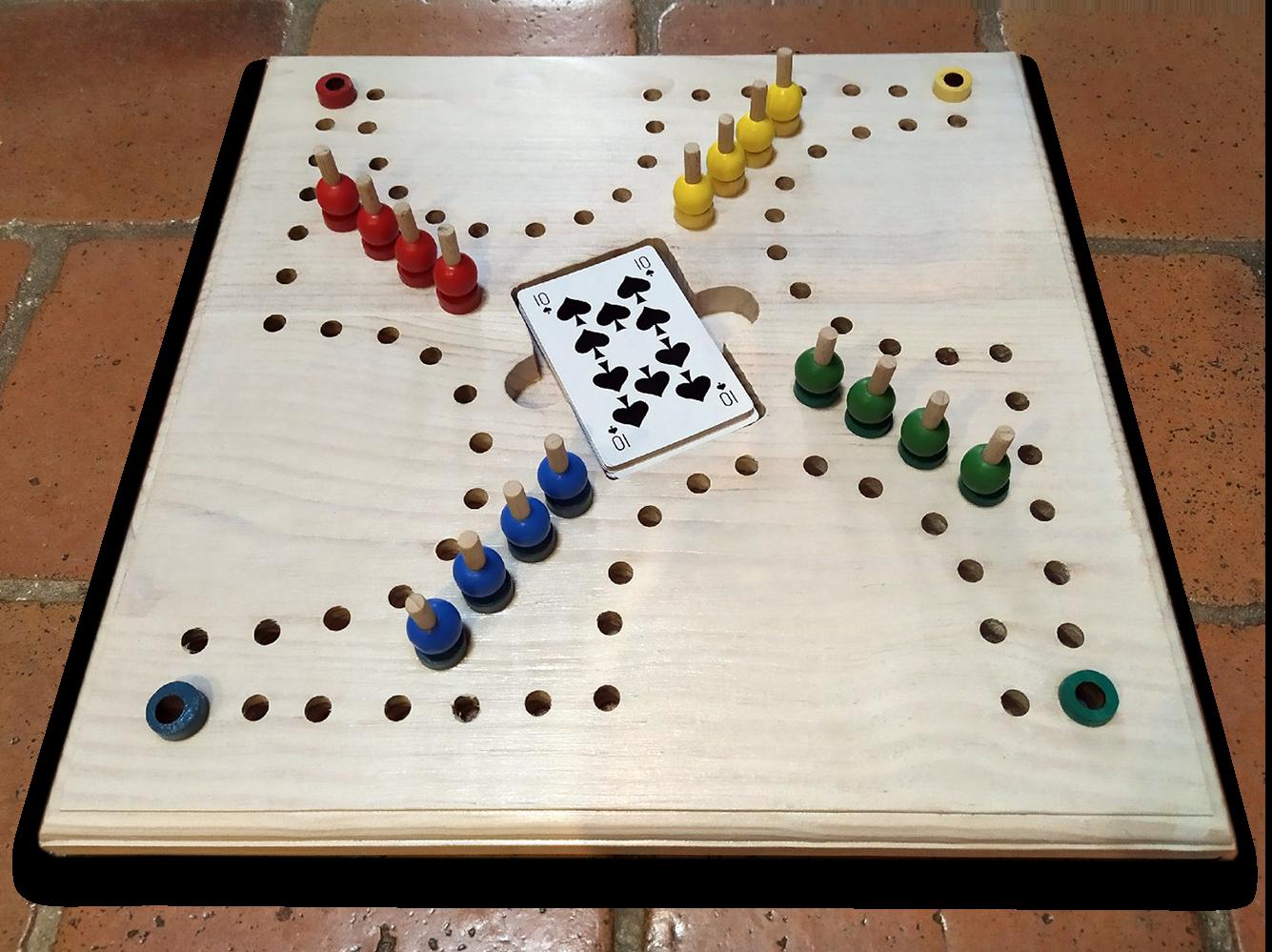 Jeu de tock (ou jeu de toc) en bois blanc